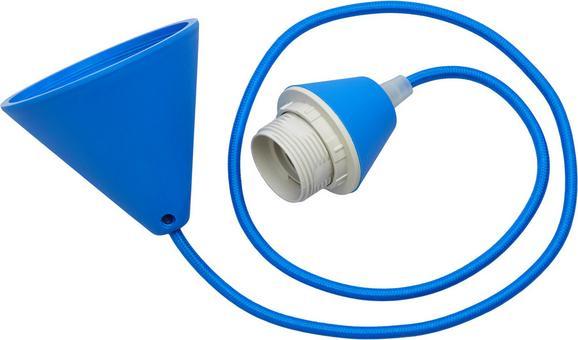 Schnurpendel Coli Blau max. 60 Watt - Blau, Kunststoff/Textil (120cm)