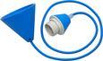 Schnurpendel Coli in Blau, max. 60 Watt - Blau, Kunststoff/Textil (120cm)
