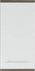 Zgornja Omara Santorin - aluminij/bela, Konvencionalno, kovina/leseni material (40/78/22cm) - Premium Living