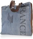 Handtasche France ca.40x46cm - Blau/Schwarz, Textil (40/46cm) - Mömax modern living