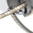Deckenleuchte Arlo mit Led - Chromfarben, MODERN, Metall (50/11cm) - Modern Living