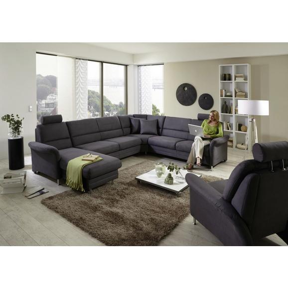 Sjedeća Garnitura Sjedeća Garn. Belluno Steel - siva, drvni materijal/tekstil (165/334/244cm) - Premium Living