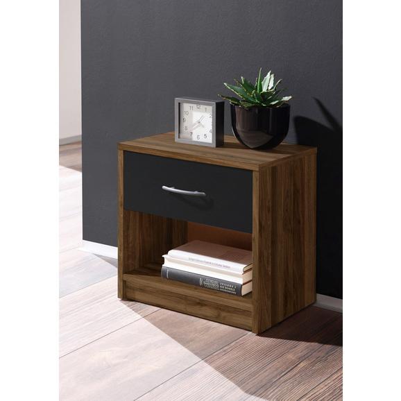Nočna Omarica Pepe - aluminij/oreh, umetna masa/leseni material (39/41/28cm) - Mömax modern living