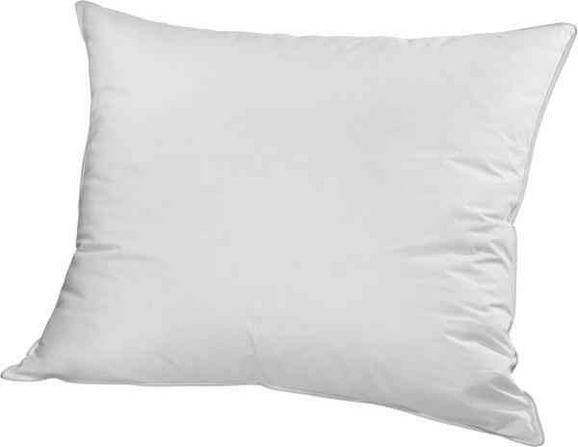 Kopfkissen Flach in Weiß, ca. 80x80cm - Weiß, Textil (80/80cm) - Nadana