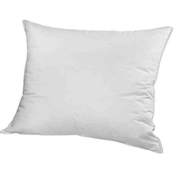 Kopfkissen Flach Weiß ca. 70x90cm - Weiß, Textil (70/90cm) - Based