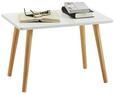Beistelltisch Weiß/Natur - Naturfarben/Weiß, MODERN, Holz/Holzwerkstoff (40/40/60cm) - Modern Living