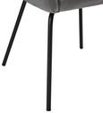 Stuhl Vani - Dunkelgrau/Schwarz, MODERN, Textil/Metall (61/81/51cm) - Modern Living
