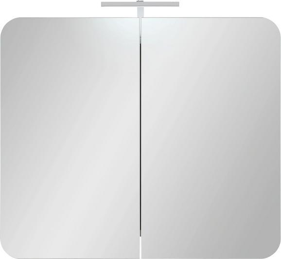 Spiegelschrank in Weiß inkl. Led Flex-band - MODERN, Holzwerkstoff (80/69/16cm) - MÖMAX modern living