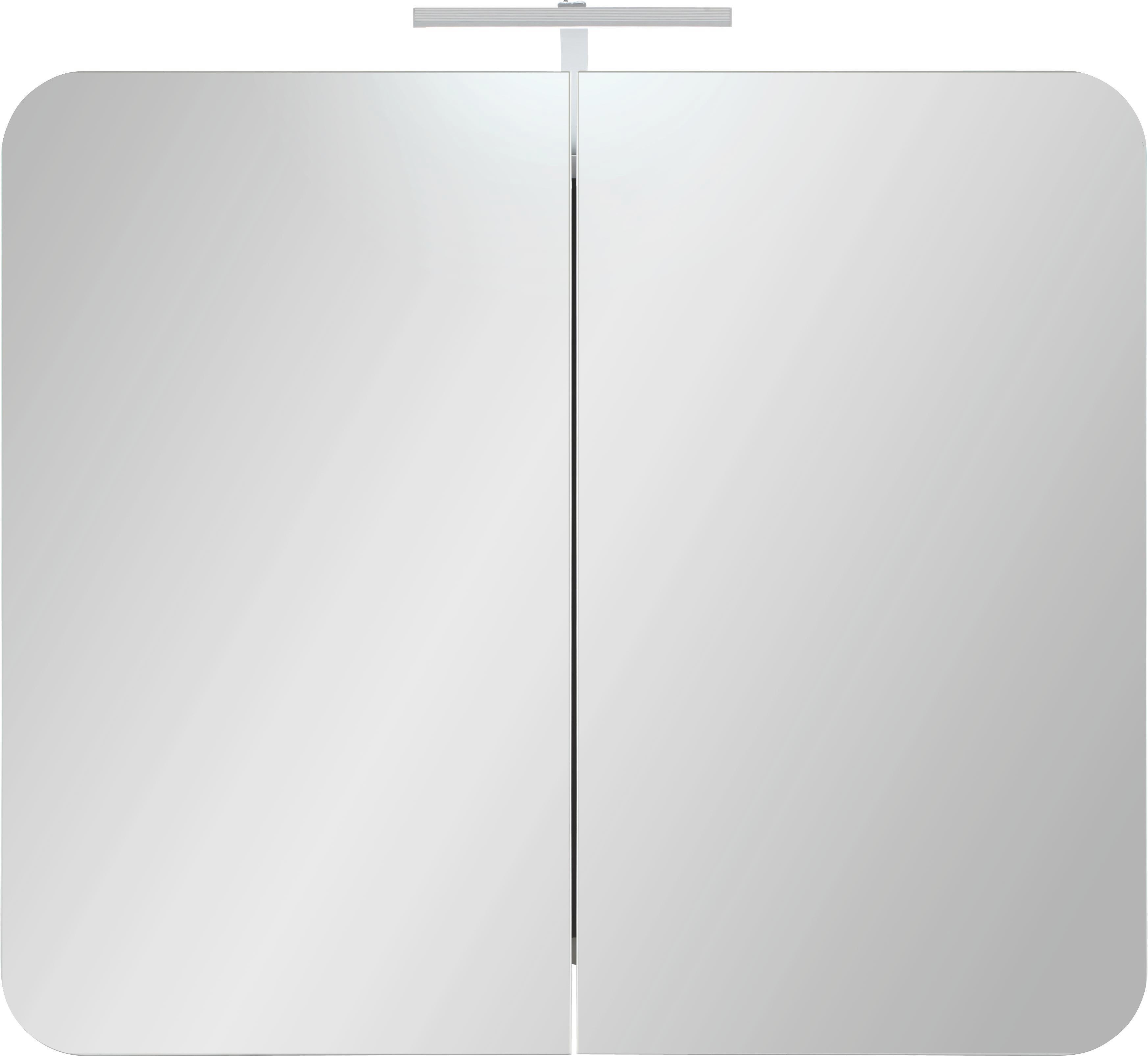 Tükrös Szekrény Linate - modern, faanyagok (80/69/16cm)