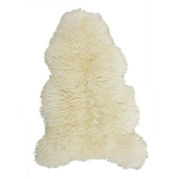 Schaffell Jenny in Weiß ca.90x60cm - Weiß, Textil (90-105/60cm) - Mömax modern living