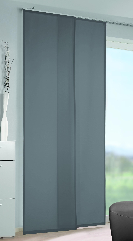 Flächenvorhang Vicky in Grau, ca. 60x245cm - Grau, Textil (60/245cm) - MÖMAX modern living