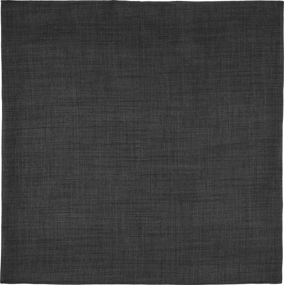 Párnahuzat Leinenoptik - sötétszürke, konvencionális, textil (60/60cm) - MÖMAX modern living