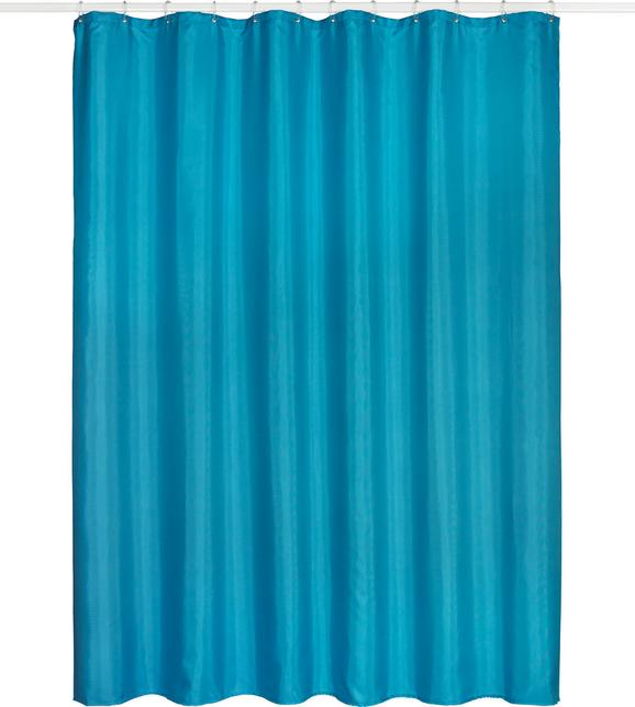 Duschvorhang Uni in Petrol, ca. 180x200cm - Petrol, Textil (180/200cm) - Mömax modern living