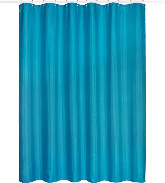 Zuhanyfüggöny Uni - petrol, textil (180/200cm) - MÖMAX modern living