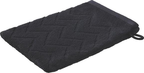 Rokavica Za Umivanje Peter - črna, tekstil (16/21cm) - Mömax modern living