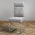 Stuhl Tobias - Chromfarben/Hellgrau, MODERN, Textil/Metall (44,5/101/55cm) - Modern Living