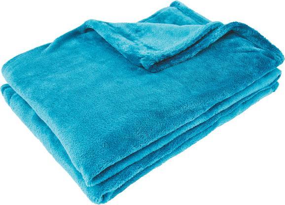 Pătură pufoasă Kuschelix - Petrol, Material textil (140/200cm)