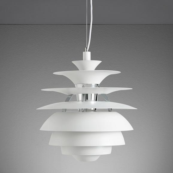 Hängeleuchte Citta - Weiß, MODERN, Metall (40/180cm) - MÖMAX modern living