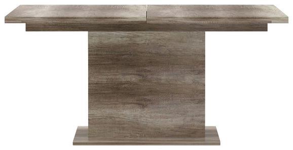 Étkezőasztal Tiziano - tölgy színű, modern, műanyag/fém (160-200/76,6/90cm)
