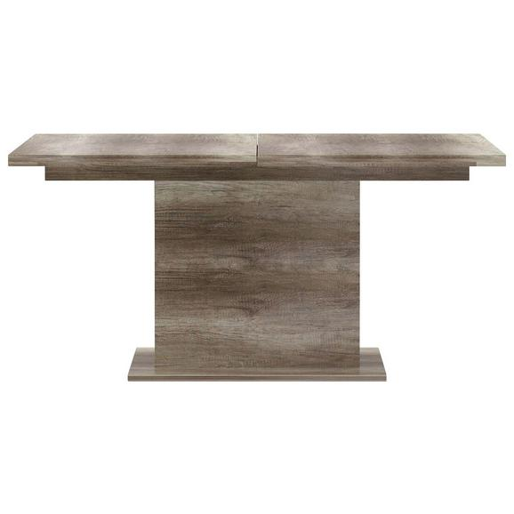 Jedilna Miza Tiziano Ca. 160x90 Cm - hrast, Moderno, kovina/umetna masa (160-200/76,6/90cm) - Mömax modern living