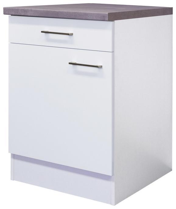 Kuhinjska Spodnja Omarica Neo - bela/nerjaveče jeklo, Moderno, kovina/leseni material (60/86/60cm)