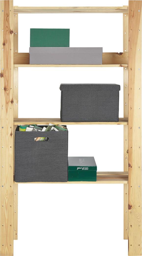 Regal Fichte Massiv - Fichtefarben, Holz (90/169/30cm) - Based