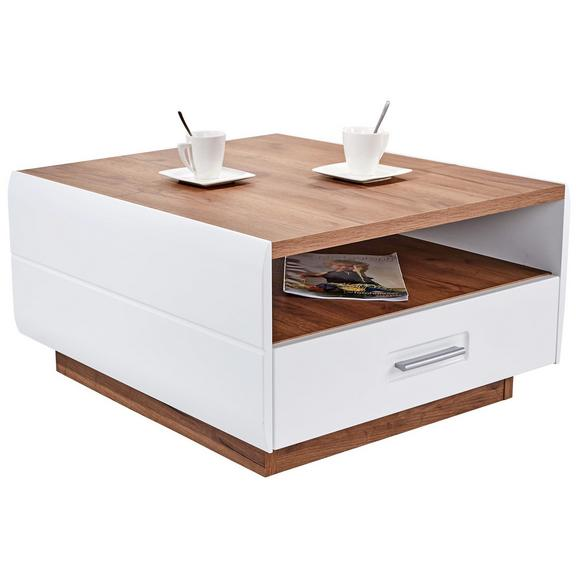 Klubska miza AVENSIS - bela/hrast, Moderno, leseni material (75/40/75cm) - Luca Bessoni