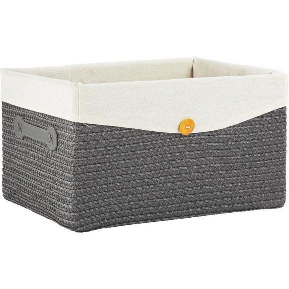 Košara Za Regal Denise L - siva, Romantika, umetna masa/tekstil (40/23/30cm) - Mömax modern living