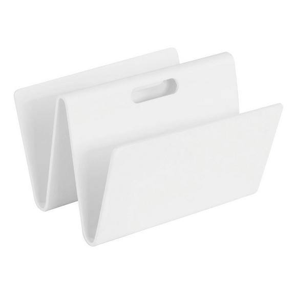 Újságtartó Állvány Fehér Klaro - Fehér, Faalapú anyag (35/24,5/32cm) - Mömax modern living