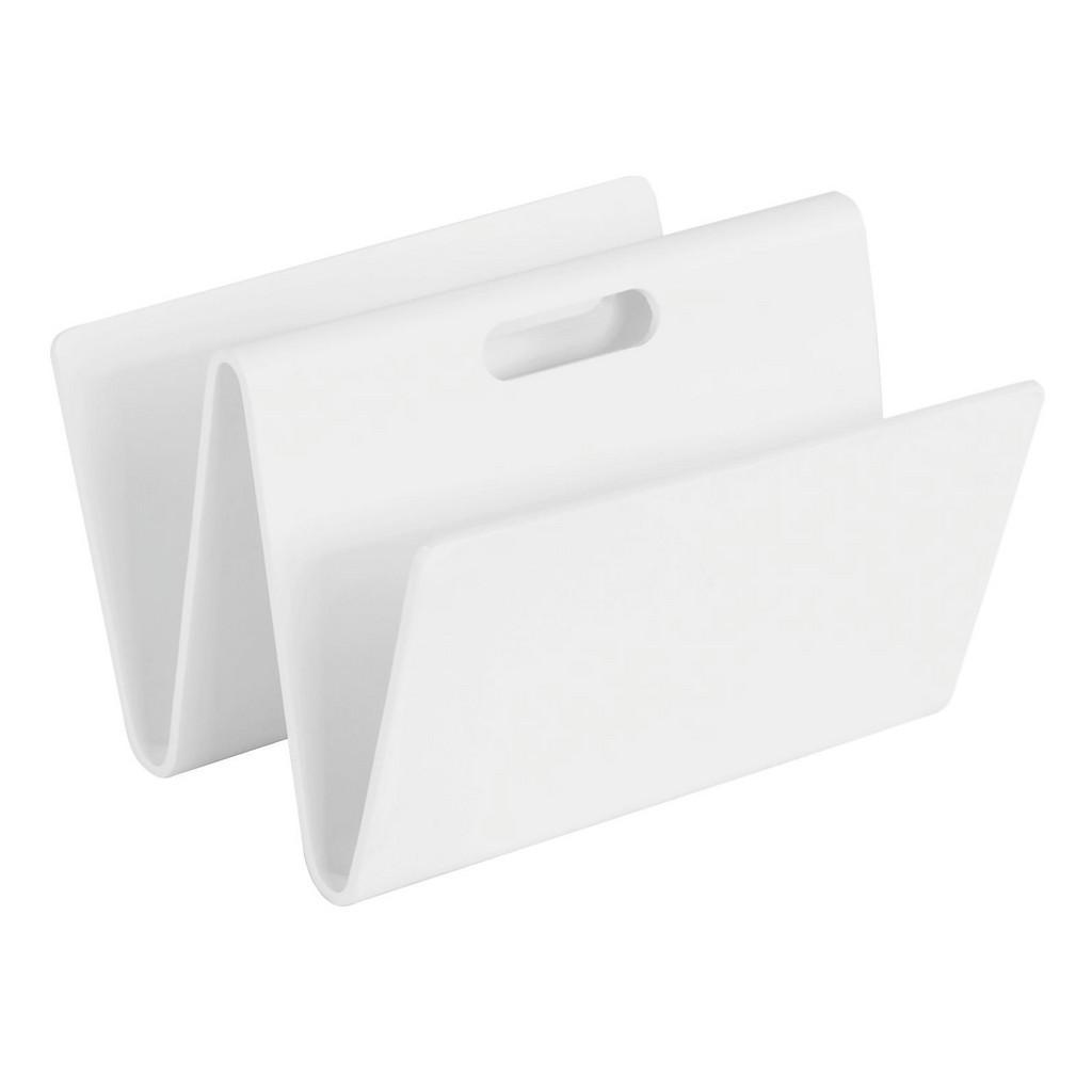 Zeitungsständer in Weiß