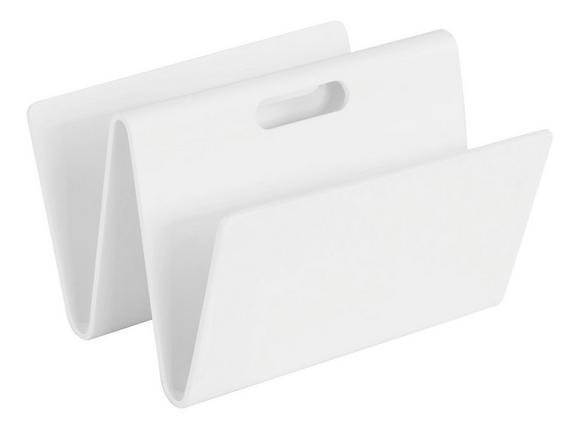 Zeitungsständer Weiß - Weiß, Holz (35/24,5/32cm) - Mömax modern living