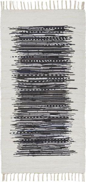 Fleckerlteppich Verena in Schwarz, ca.80x150cm - Schwarz, LIFESTYLE, Textil (80/150cm) - MÖMAX modern living