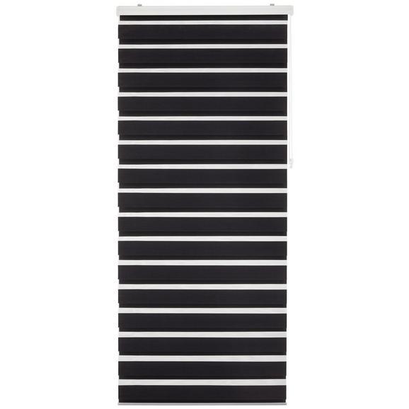 Rulou Zebră Thomas - negru, plastic/textil (90/210cm) - Premium Living