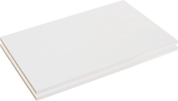 Polica Florenz - bela, Konvencionalno, leseni material (43,4/1,8/49,5cm) - Mömax modern living