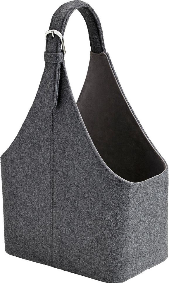 Aufbewahrungsbox Fahid - Dunkelgrau, Textil (30/18/45cm) - MÖMAX modern living