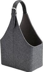Korb Fahid - Dunkelgrau, Textil (30/18/45cm) - Mömax modern living
