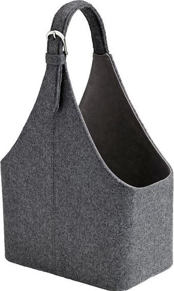 Korb Fahid Fahid - Dunkelgrau, Textil (30/18/45cm) - Mömax modern living