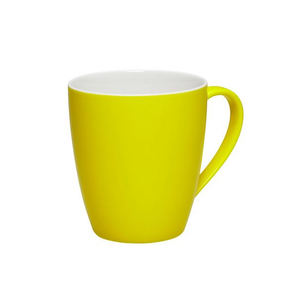 Kaffeebecher Sandy aus Keramik ca. 360ml - Gelb, KONVENTIONELL, Keramik (8,9/10cm) - Mömax modern living