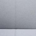 Schlafsofa Faith inkl. Kissen - Hellgrau, MODERN, Holz/Textil (186/73/83cm) - MODERN LIVING