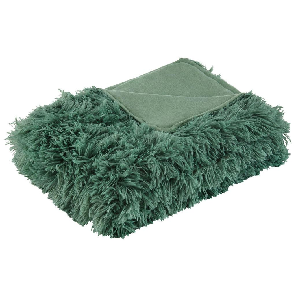 Kuscheldecke Fluffy Hellgrün 130×180 cm