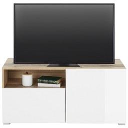 TV-Element beidseitig montierbar - Eichefarben/Weiß, MODERN, Holzwerkstoff (110/51/38cm) - Modern Living