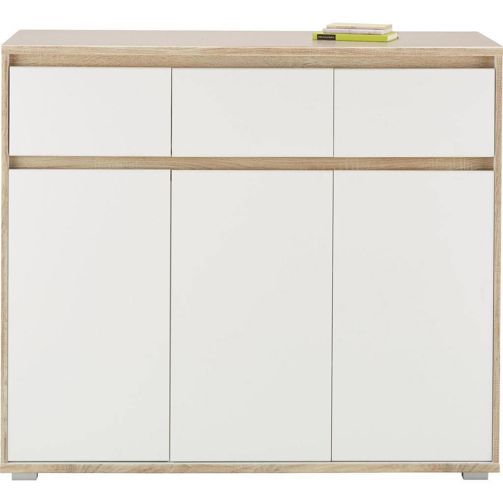 Sideboard Weiß/Eiche
