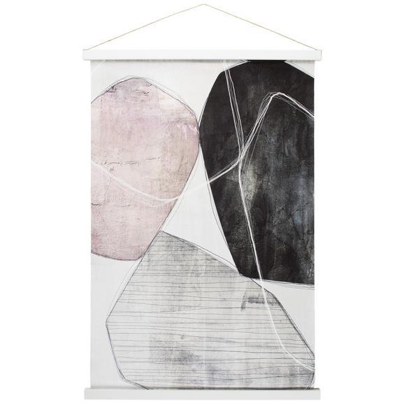 Decorațiune De Perete Kakemono - alb/roz, compozit lemnos/textil (60/90cm) - Modern Living