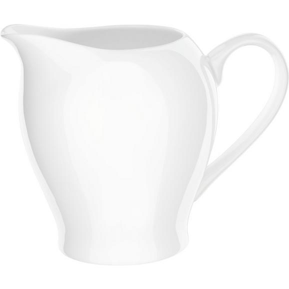 Milchkännchen Bonnie aus Keramik - Weiß, MODERN, Keramik (0,34l) - Mömax modern living