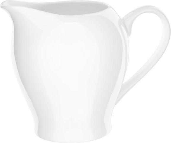 Milchkännchen Bonnie Weiß - Weiß, MODERN, Keramik (0,34l) - Mömax modern living