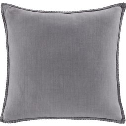 Kissen in Hellgrau 'Lorena' ca. 45x45cm - Hellgrau, MODERN, Textil (45/45cm) - Bessagi Home