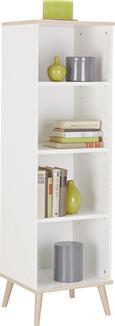 Regal in Weiß aus Holz - Eichefarben/Weiß, MODERN, Holz/Holzwerkstoff (42/133/40cm) - Modern Living