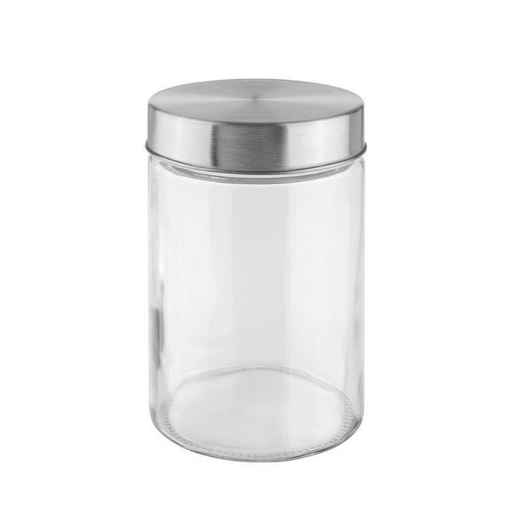 Cutie Alimentară Magnus - clar/culoare inox, Modern, sticlă/metal (11,5/17cm) - Mömax modern living