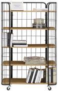 Regal Schwarz/naturfarben - Schwarz/Naturfarben, LIFESTYLE, Holzwerkstoff/Metall (83/40/132cm) - MÖMAX modern living