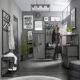 Șină De Agățare Chester - negru, metal (57cm) - Premium Living